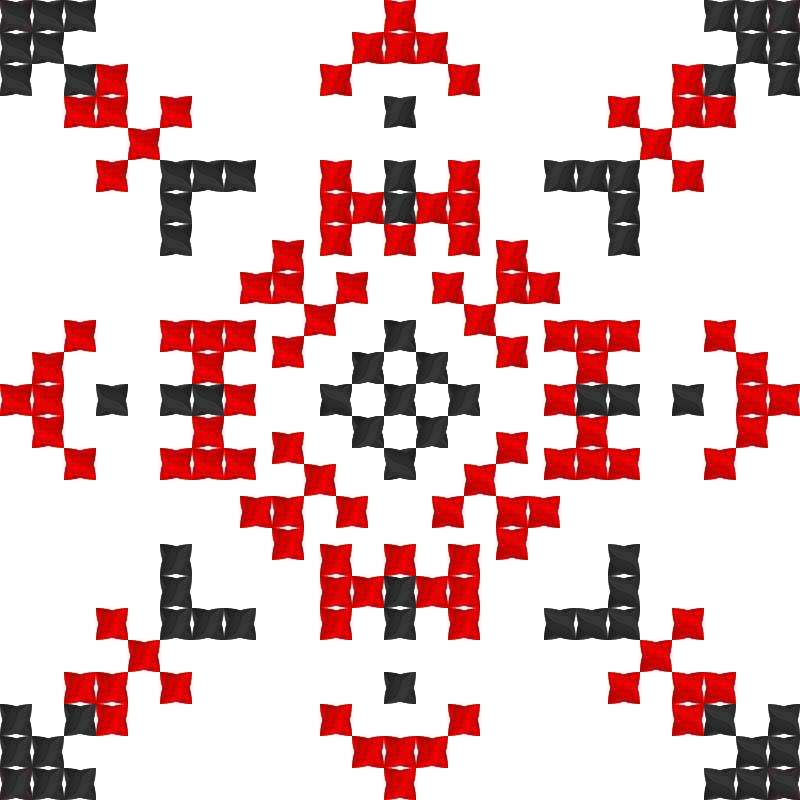 Текстовий слов'янський орнамент: Камелія