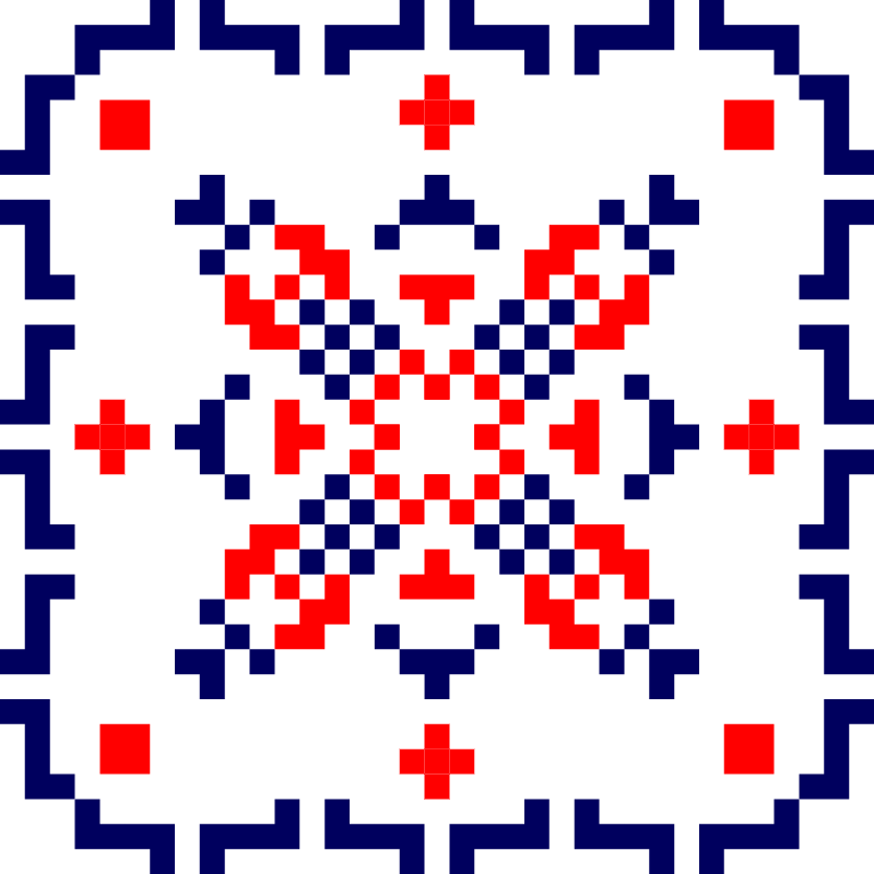 Текстовий слов'янський орнамент: Петанк