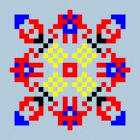 Текстовый украинский орнамент: Зоренька