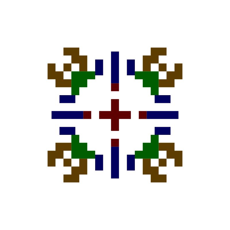 Текстовий слов'янський орнамент: #ivan