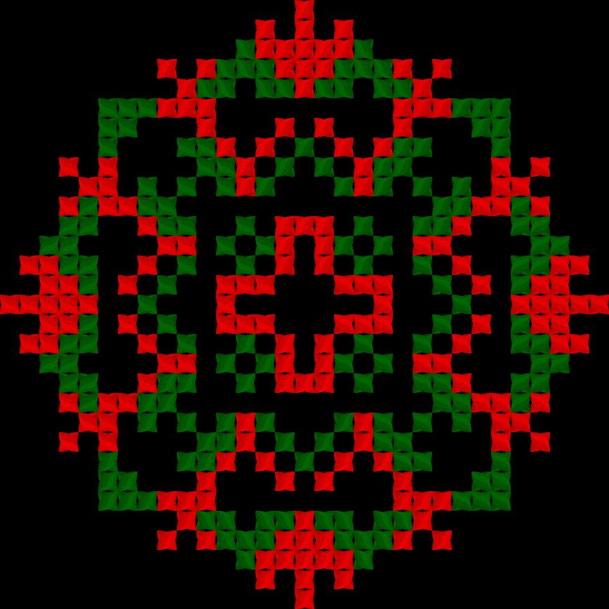 Текстовий слов'янський орнамент: Полуничка