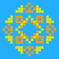Текстовый украинский орнамент: Люда