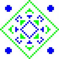 Текстовый украинский орнамент: Лапта2