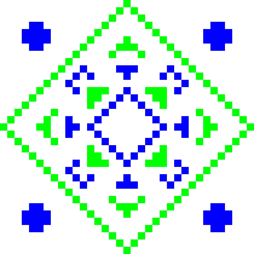 Текстовий слов'янський орнамент: Лапта2