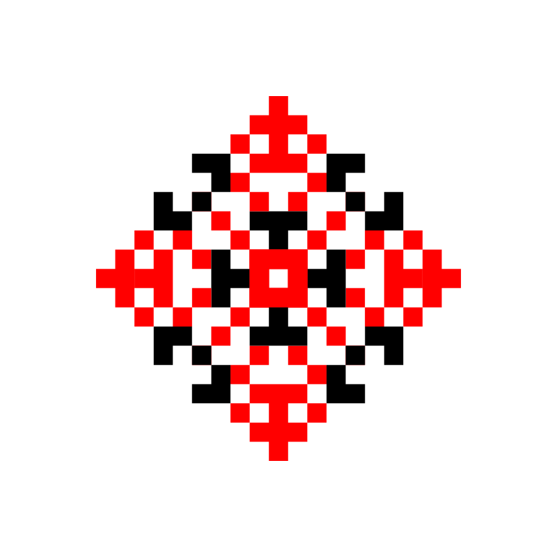 Текстовий слов'янський орнамент: товста