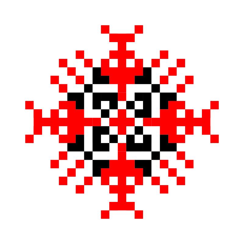 Текстовий слов'янський орнамент: рижівка