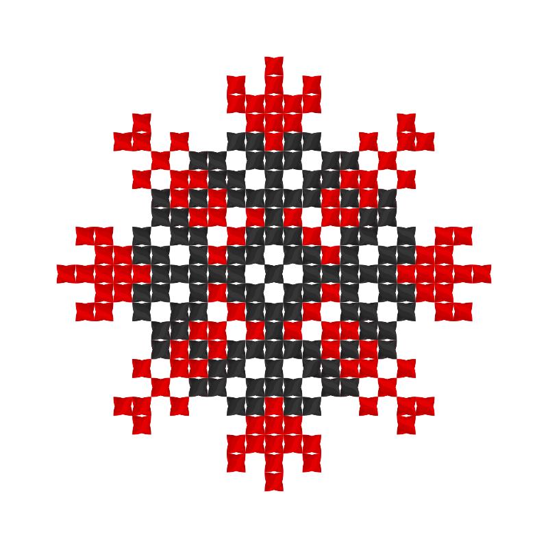 Текстовий слов'янський орнамент: кальченки