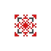 Текстовый украинский орнамент: лука