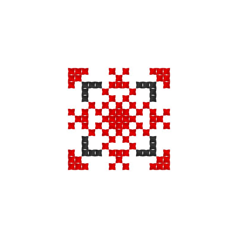 Текстовий слов'янський орнамент: лука