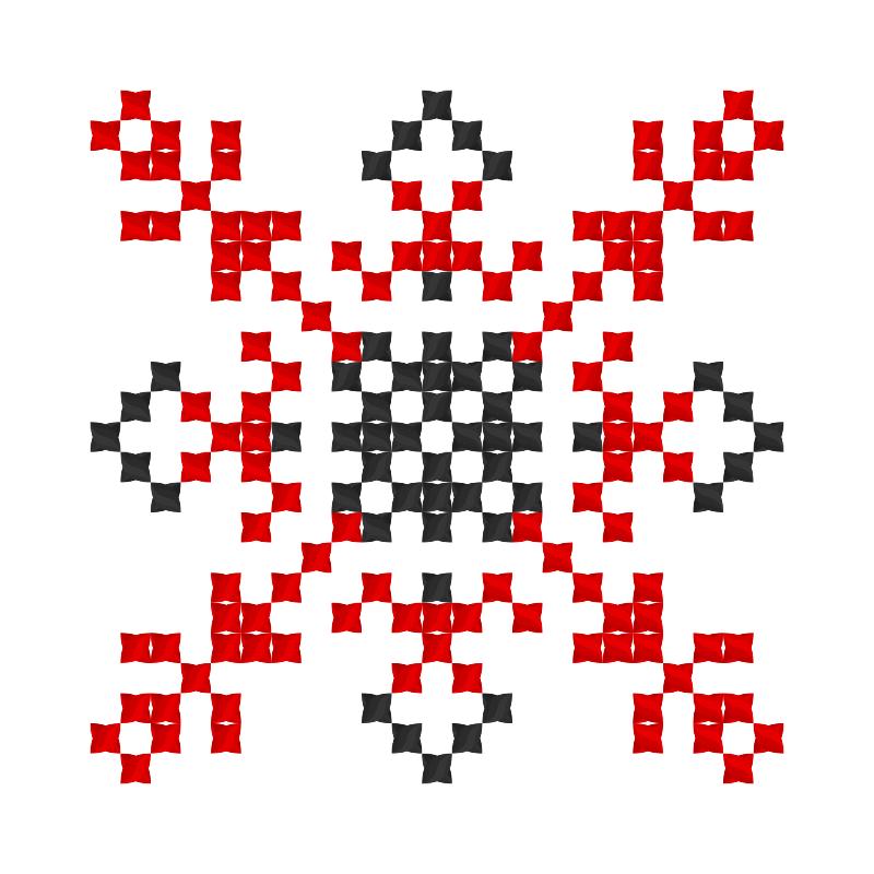 Текстовий слов'янський орнамент: клавдія