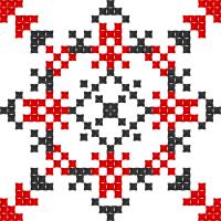 Текстовый украинский орнамент: анжеліка