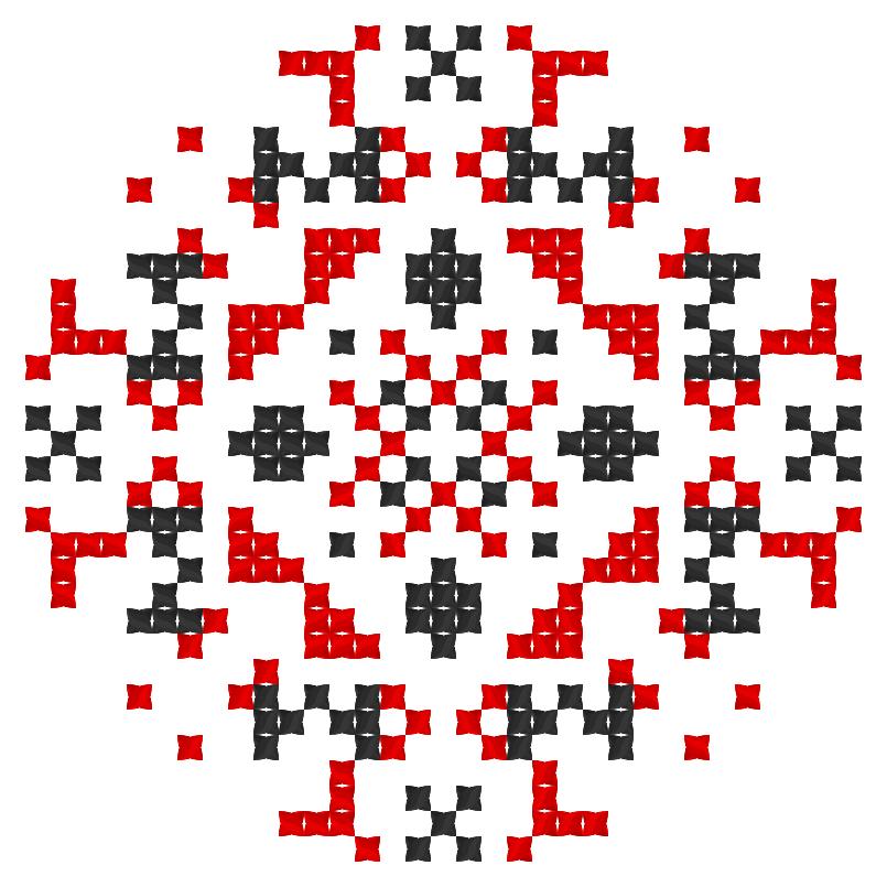 Текстовий слов'янський орнамент: Ліга Сміху