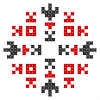 Текстовый украинский орнамент: Котик
