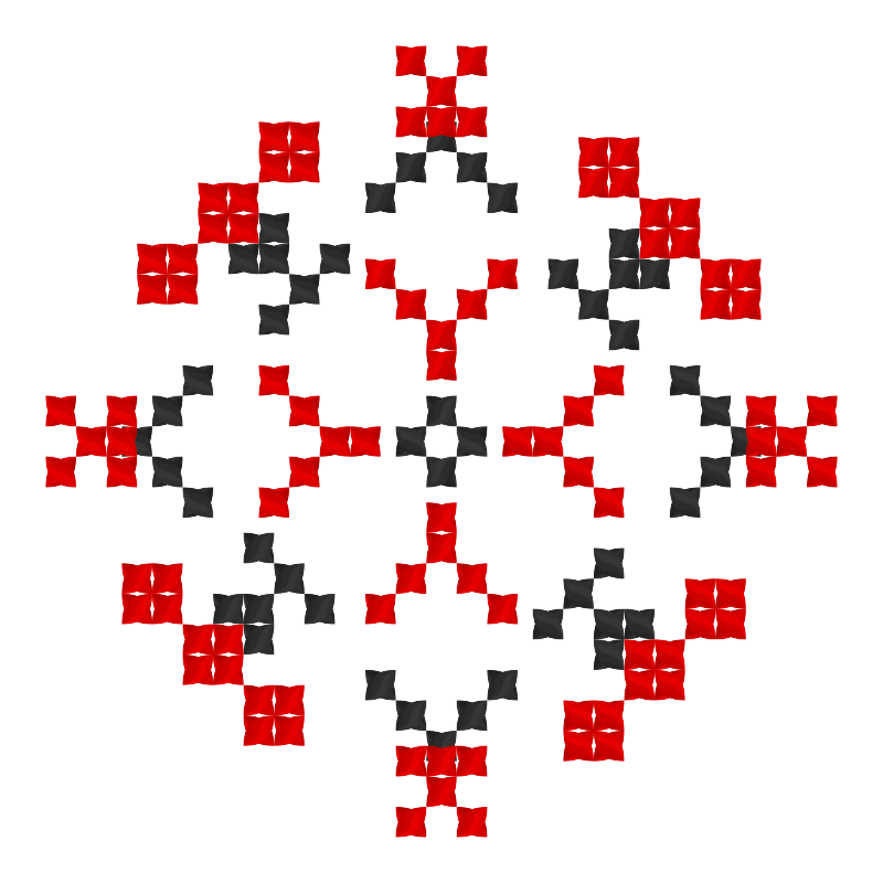 Текстовий слов'янський орнамент: Прізвище