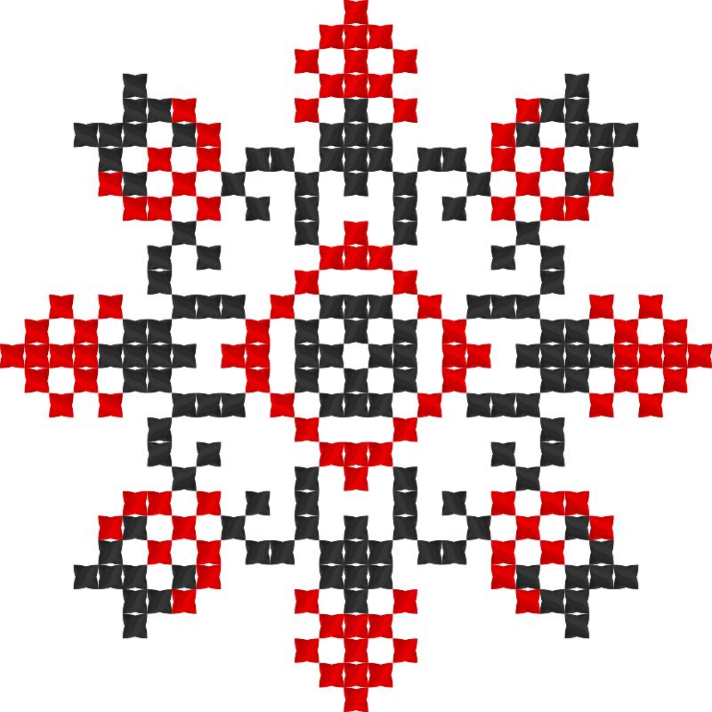 Текстовий слов'янський орнамент: маргарита