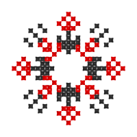 Текстовый украинский орнамент: давид