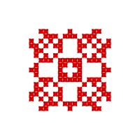 Текстовый украинский орнамент: саша
