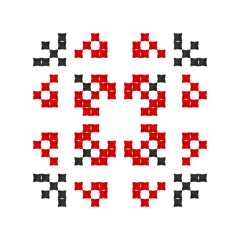 Текстовий слов'янський орнамент: рені