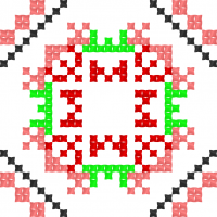 Текстовый украинский орнамент: мишка