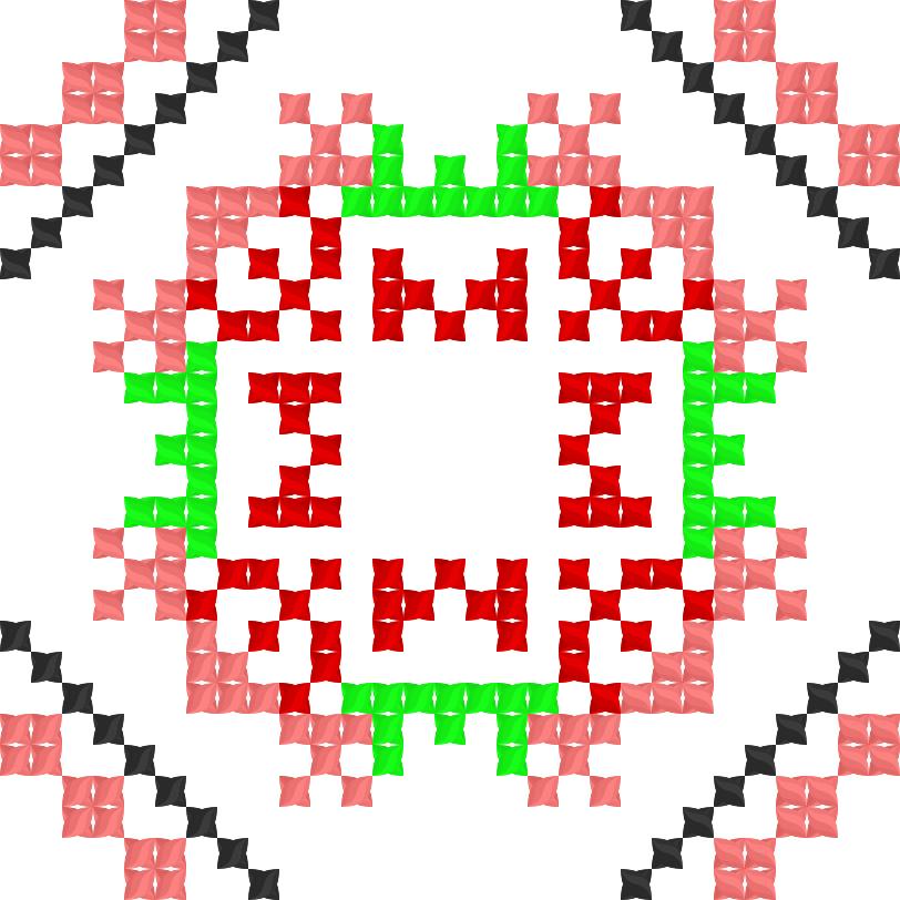 Текстовий слов'янський орнамент: мишка