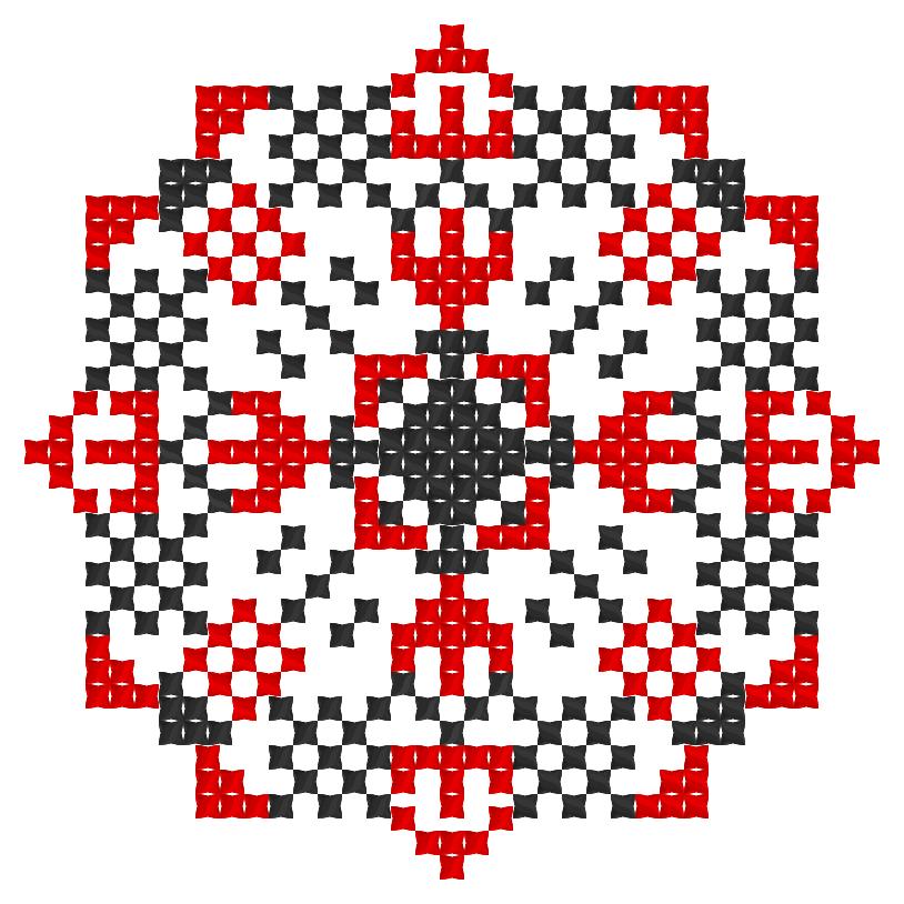 Текстовий слов'янський орнамент: Елизавета