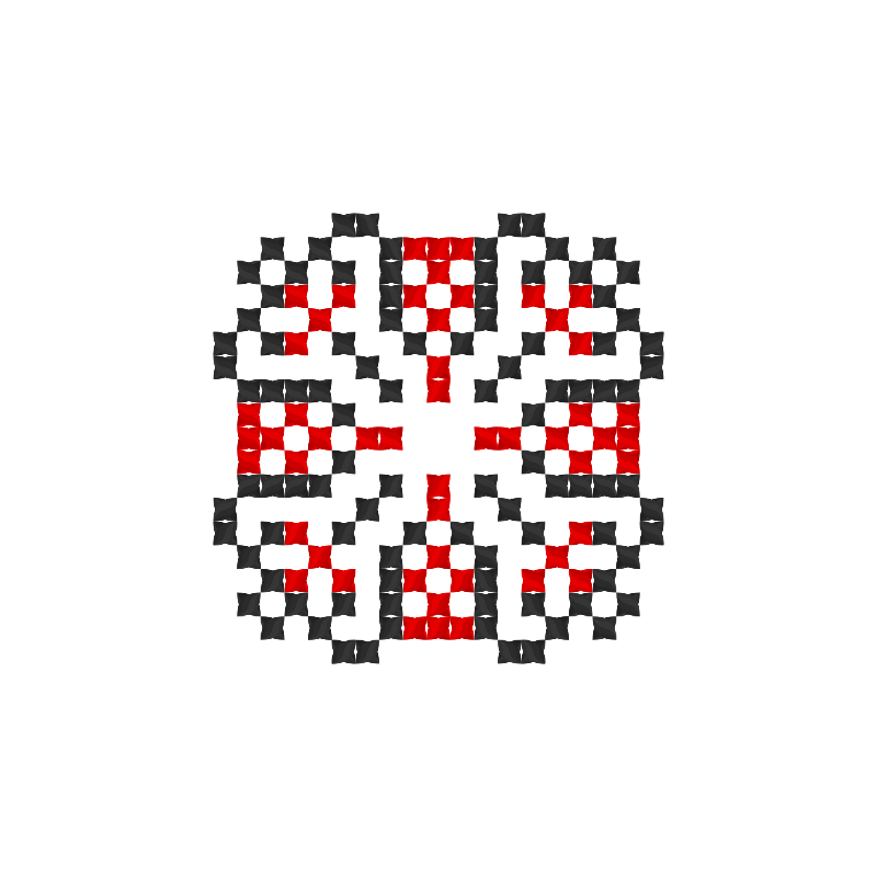 Текстовий слов'янський орнамент: Вiктор