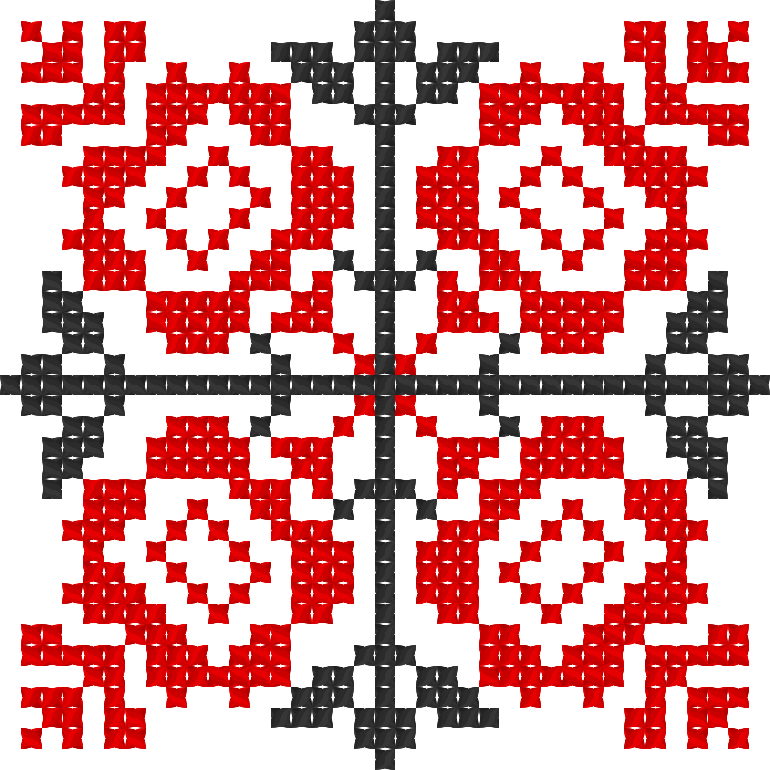 Текстовий слов'янський орнамент: Квiти