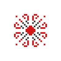 Текстовый украинский орнамент: Віра