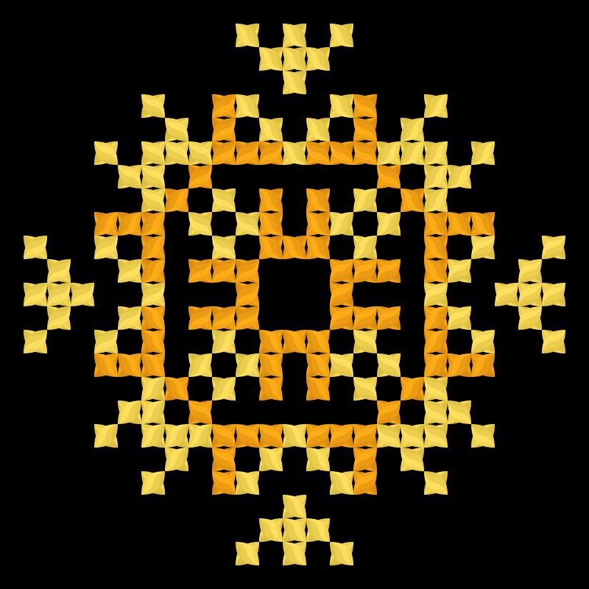 Текстовий слов'янський орнамент: полум'я