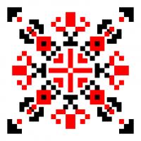 Текстовый украинский орнамент: гордієнко вероніка