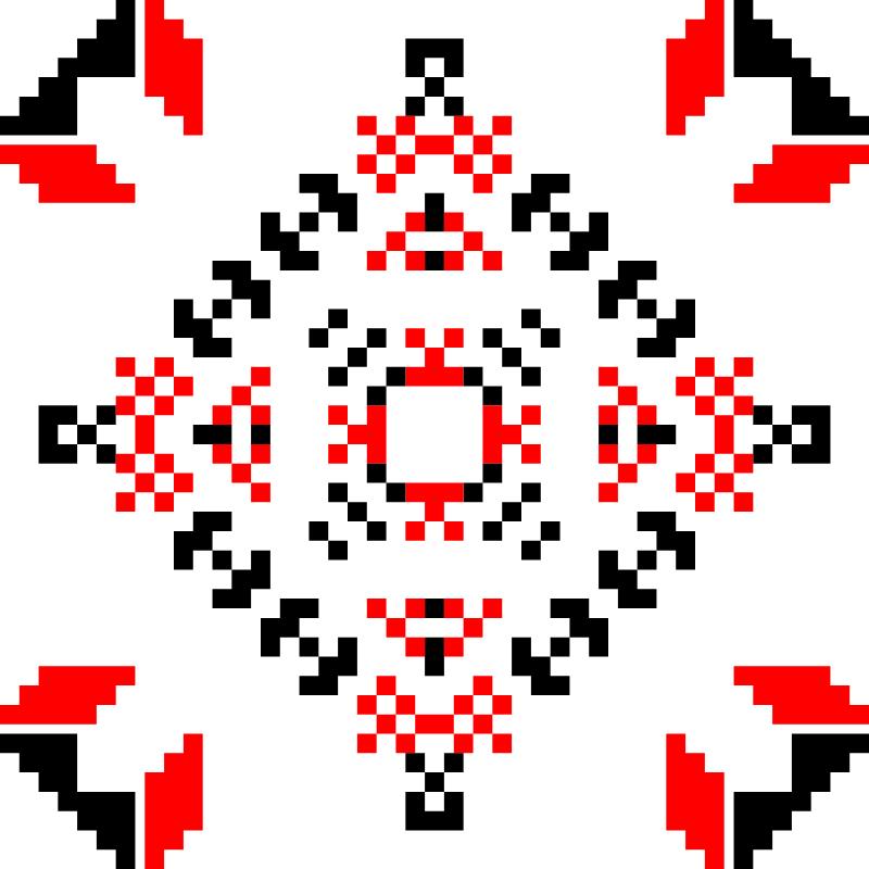 Текстовий слов'янський орнамент: квітень