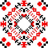 Текстовый украинский орнамент: червень