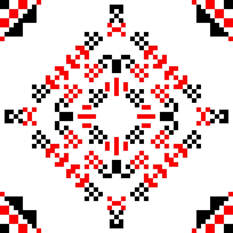 Текстовий слов'янський орнамент: вересень