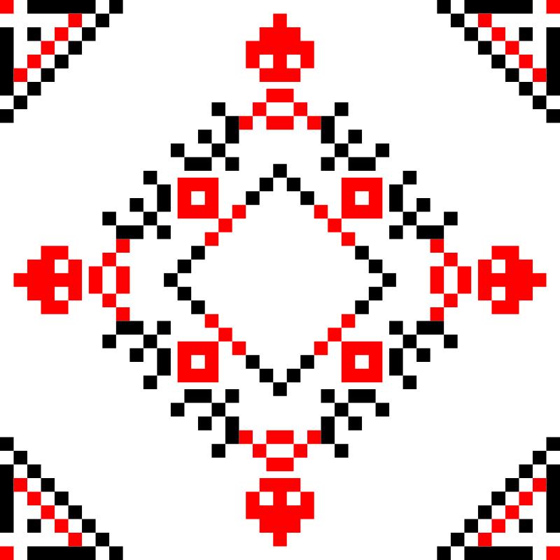 Текстовий слов'янський орнамент: лютий
