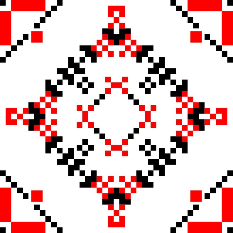Текстовий слов'янський орнамент: січень