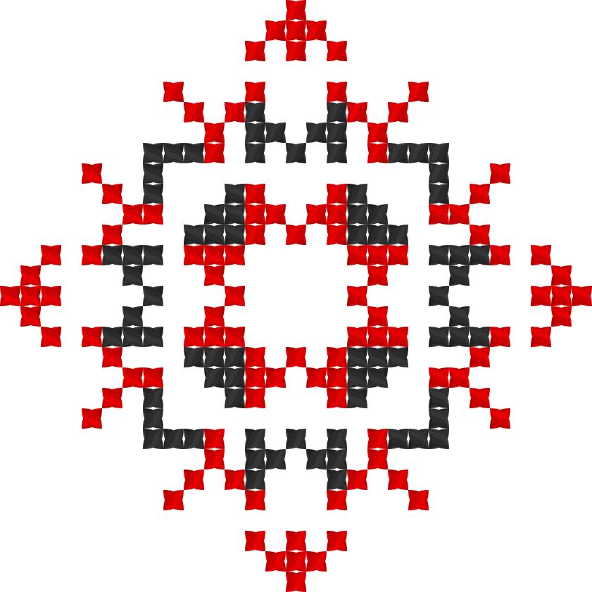 Текстовий слов'янський орнамент: Мамуля