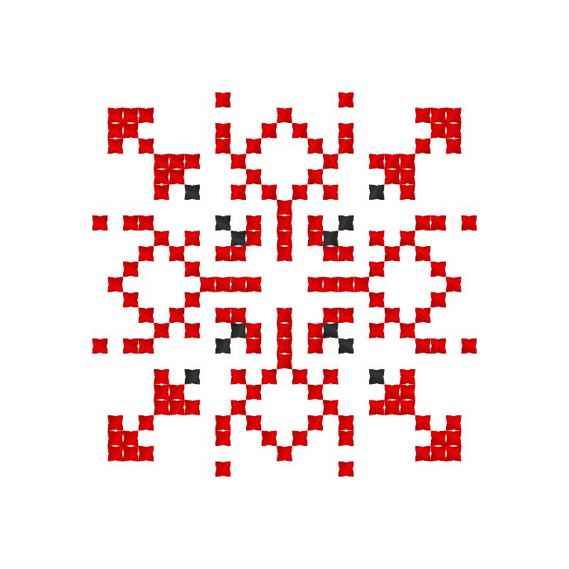 Текстовий слов'янський орнамент: Віталія