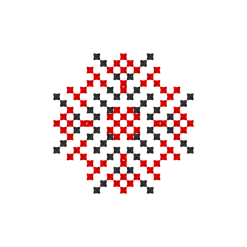 Текстовий слов'янський орнамент: Світлі