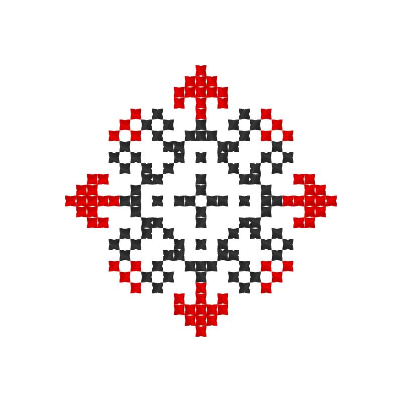 Текстовий слов'янський орнамент: Істоти