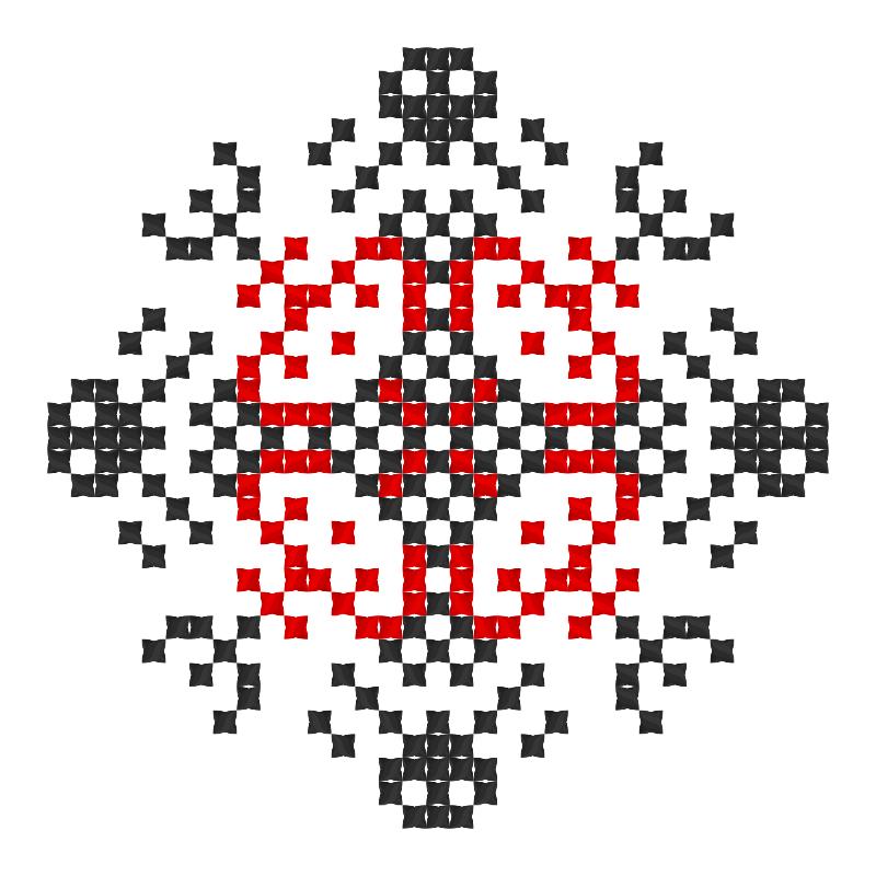 Текстовий слов'янський орнамент: Зірковий