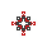 Текстовый украинский орнамент: Плоть