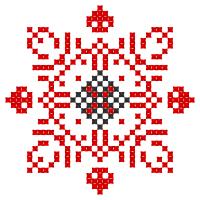 Текстовый украинский орнамент: Зірковий