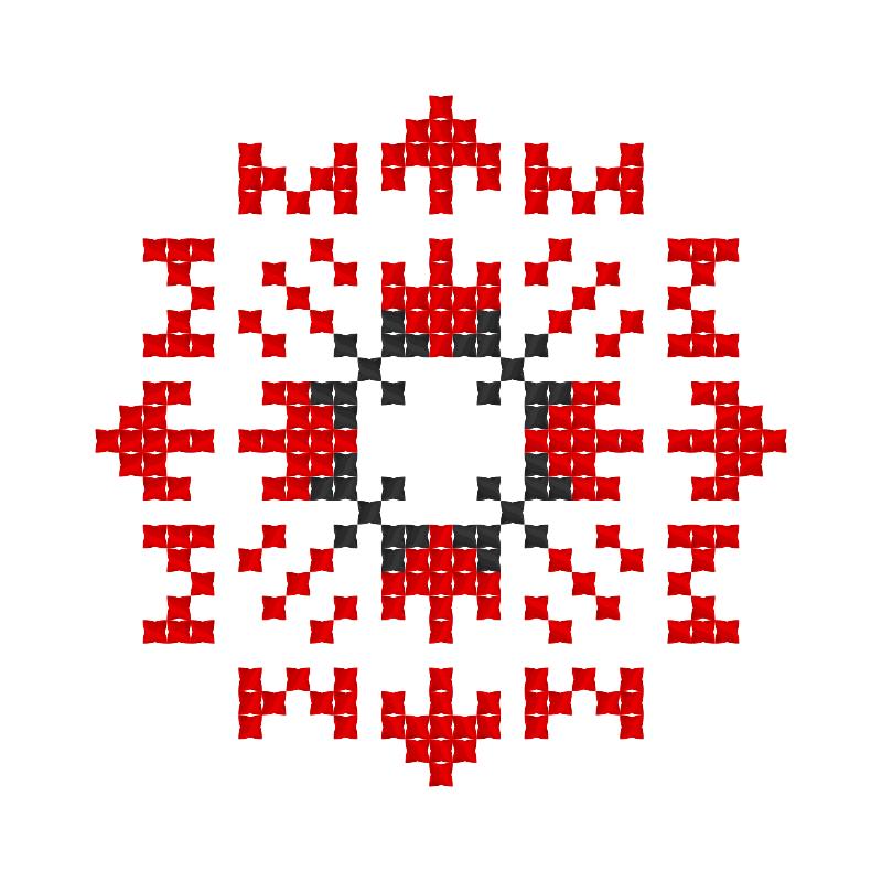 Текстовий слов'янський орнамент: Живим