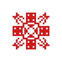 Текстовый украинский орнамент: Словом