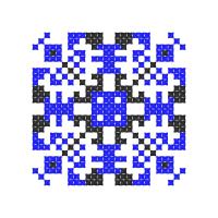 Текстовый украинский орнамент: Оберігаю