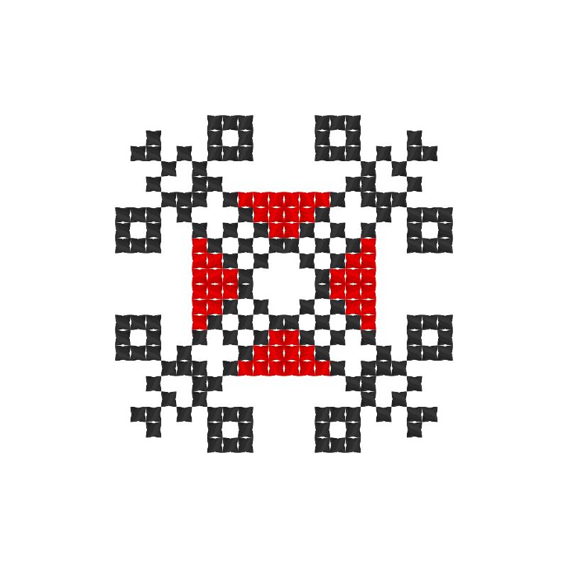Текстовий слов'янський орнамент: Замок