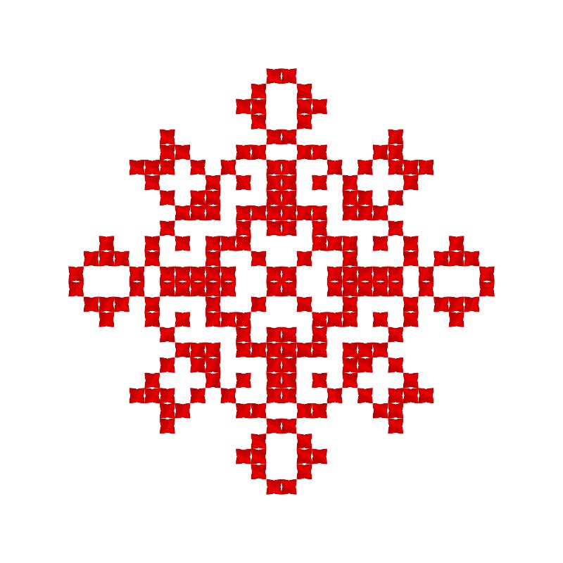 Текстовий слов'янський орнамент: Брама