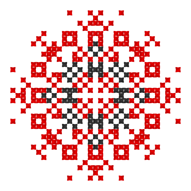 Текстовий слов'янський орнамент: Енергопотік