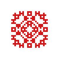 Текстовый украинский орнамент: Вогонь
