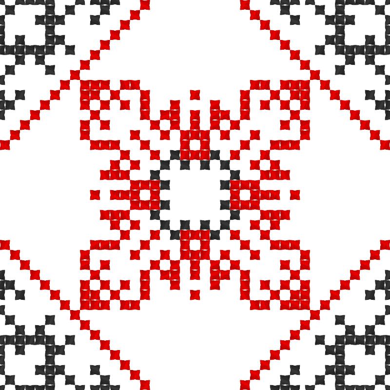 Текстовий слов'янський орнамент: Повітря Земля